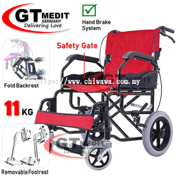 ��RM189.00��GT MEDIC GERMANY Ultra Lightweight Wheelchair Foldable Travel Transport Wheel Chair / Kerusi Roda Ri