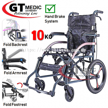�� RM450.00 ��GT MEDIC GERMANY Ultra Lightweight Wheelchair Foldable Travel Transport Wheel Chair / Kerusi Roda Ringan