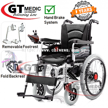 �� RM2496.87��GT MEDIC GERMANY Lightweight Electric Wheelchair Foldable Travel Transport Auto Motor Wheel Chair / Kerusi Roda Elektrik