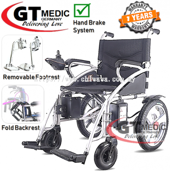 ��RM2,358.90��GT MEDIC GERMANY Lightweight Electric Wheelchair Foldable Travel Transport Auto Motor Wheel Chair / Kerusi Roda Elektrik