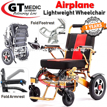 ��RM4,500.00��GT MEDIC GERMANY Lightweight Airplane Electric Wheelchair Foldable Travel Auto Motor Wheel Chair / Kerusi Roda Elektrik