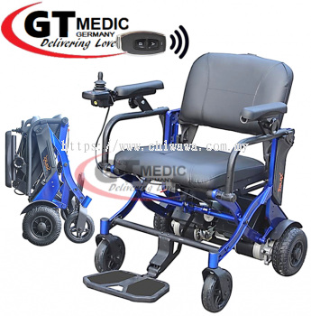 【 RM6,420.00 】SOLAX Automatic Foldable Lightweight Electric Wheelchair Transport Auto Motor Wheel Chair Kerusi Roda Elektrik + Remote