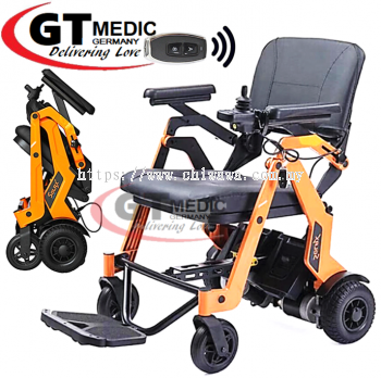 ��RM7,420.00��SOLAX Automatic Foldable Lightweight Electric Wheelchair Transport Auto Motor Wheel Chair Kerusi Roda Elektrik + Remote