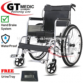 �� RM245.00 ��GT MEDIC GERMANY Ultra Lightweight Wheelchair Foldable Travel Commode Wheel Chair / Kerusi Roda Ringan + Urine Tray