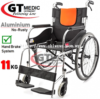 ��RM350.00��GT MEDIC GERMANY Ultra Lightweight Aluminium Wheelchair Foldable Travel Transport Wheel Chair / Kerusi Roda Ringan