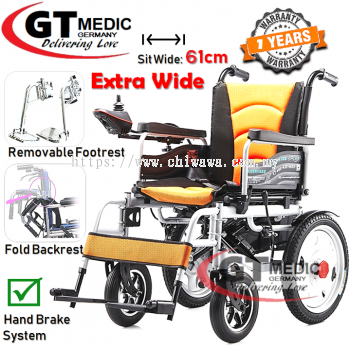 ��RM2,559.00����EXTRA BIG Sit Wide��GT MEDIC GERMANY Electric Wheelchair Foldable Transport Auto Motor Wheel Chair Kerusi Roda Elektrik