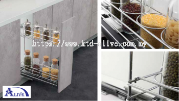 MULTI-FUNCTION TWO  LAYERS PULL OUT BASKET