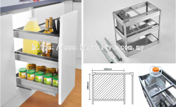 300MM 3 TIER MULTI-FUNCTION PULL OUT BASKET