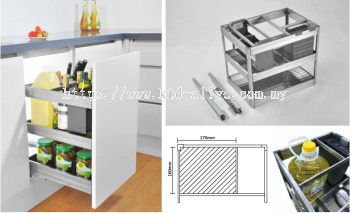 350MM 3 TIER MULTI-FUNCTION PULL OUT BASKET