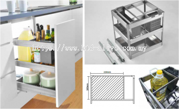 400MM 3 TIER MULTI-FUNCTION PULL OUT BASKET