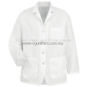 Lapel Counter Coat (White (00) BJ)