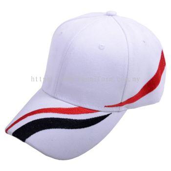 Wool Cap Design D (CW2R/87) (White/Red/Black)