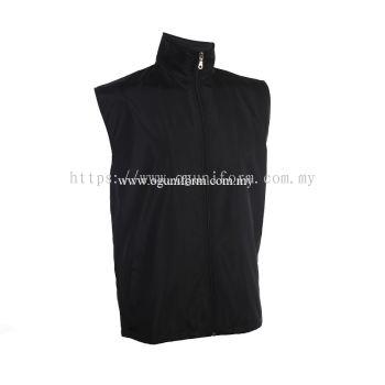 Unisex Sleeveless Vest Jacket (VJ06E-261) Black (02)