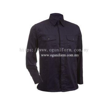 Unisex Long Sleeve Jacket (JK01OS/366) Navy Blue (01)