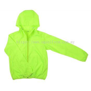 Pocketable Hoodie Jacket (Lime Green (02)