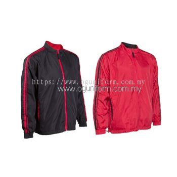 Unisex Reversible Jacket (WR04OS-562) Red Black (05)