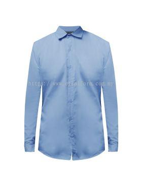 Unisex Long Sleeve Shirt (NHB20M-509) Carolina Blue