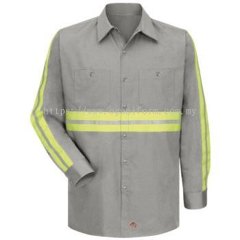 Enhanced Visibility Work Shirt(1 Reflective) Grey