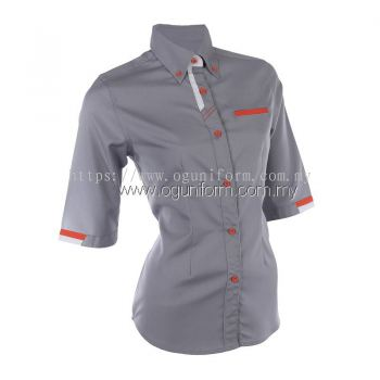 Female F1 Shirt (F127OS/355) Dark Grey(24)