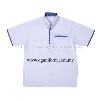 Unisex F1 Shirt (F136OS/392) White & Blue (00)