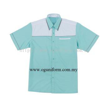 Unisex F1 Shirt (F138OS/420) Turquoise & White & Grey (17)