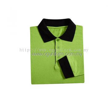Unisex Long Sleeve Collar-Tee (SJ03OS/180)