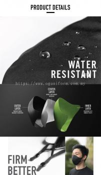 Reusable Water Resistant 3D Face Mask