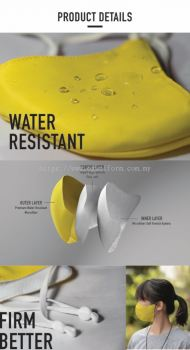 Reusable Water Resistant 3D Face Mask