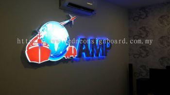 AMP Logo indoor LED Signage