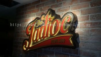 Acrylic 3d emboss lettering logo signage