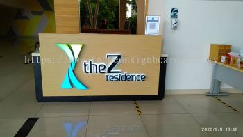 The Z Residence Signboard