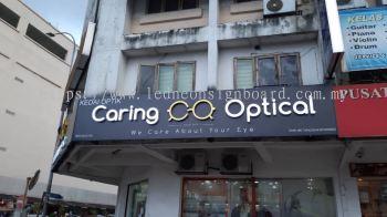 3d Led Frontlit Signaboard (Caring Optical) Kedai Optik Signboard