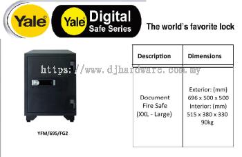 YALE THE WORLDS FAVORITE LOCK DIGITAL SAFE SERIES YFM695FG2 (WS)