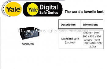 YALE THE WORLDS FAVORITE LOCK DIGITAL SAFE SERIES YLS200DB2 (WS)