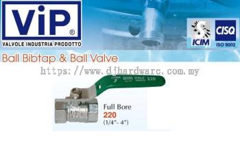 VIP VALVOLE INDUSTRIA PRODOTTO BALL BIBTAP & BALL VALVE BIB FULL BORE 220 (WS)
