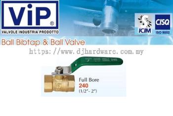 VIP VALVOLE INDUSTRIA PRODOTTO BALL BIBTAP & BALL VALVE BIB FULL BORE 240 (WS)
