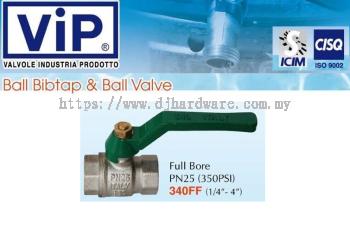 VIP VALVOLE INDUSTRIA PRODOTTO BALL BIBTAP & BALL VALVE BIB FULL BORE 340FF (WS)