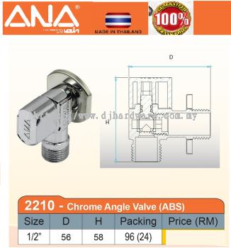 ANA CHROME ANGLE VALVE ABS 2210 (BS)