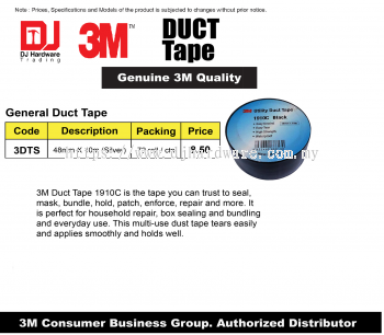 3M DUCT TAPE GENERAL DUCT TAPE 48MM X 10M SILVER 3DTS (CL)