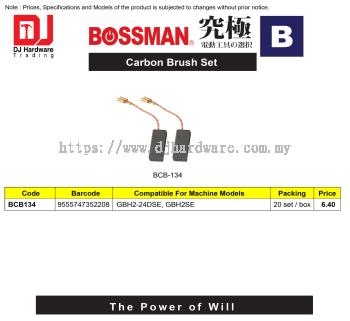 BOSSMAN CARBON BRUSH SET B SERIES BCB134 9555747352208 (CL)