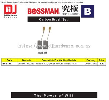 BOSSMAN CARBON BRUSH SET B SERIES BCB145 9555747352222 (CL)