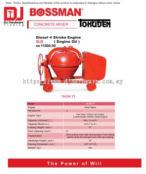 BOSSMAN CONCRETE MIXER DIESEL 4 STROKE ENGINE OIL  TKCM7T (CL)