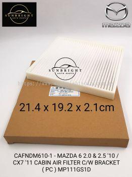 CAFNDM610-1 - MAZDA 6 2.0 & 2.5 '10 / CX7 '11 CABIN AIR FILTER C/W BRACKET ( PC ) MP111GS1D