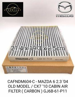 CAFNDM604-C - MAZDA 6 2.3 '04 OLD MODEL / CX7 '10 CABIN AIR FILTER ( CARBON ) GJ6B-61-P11