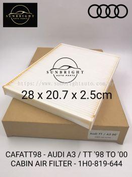 CAFATT98 - AUDI A3 / TT '98 TO '00 CABIN AIR FILTER - 1H0-819-644