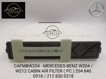 CAFMBW204-MERCEDES-BENZ W204 / W212 CABIN AIR FILTER ( PC ) 204 840 0518 / 212 830 0218