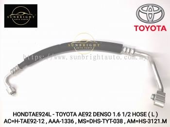 HONDTAE924L - TOYOTA AE92 DENSO 1.6 1/2 HOSE ( L ) AC=H-TAE92-12 , AAA-1336 , MS=DHS-TYT-038 , AM=HS