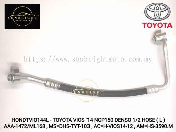 HONDTVIO144L - TOYOTA VIOS '14 NCP150 DENSO 1/2 HOSE ( L ) AAA-1472/ML168 , MS=DHS-TYT-103 , AC=H-VI