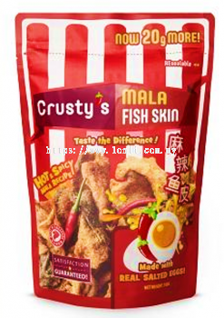 Crusty��s Hot & Spicy Salted Egg Fish Skin 30x100g