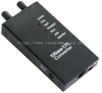10Base-T Ethernet to 10Base-FL fiber optical media converter